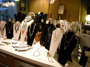 A view of some of this year's trunk show items...