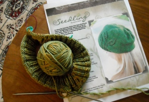 "The ""Seedling"" Hat in lovely Madelintosh Vintage worsted, Filigree"